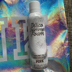 Victoria's Secret PINK bag & shimmer foam